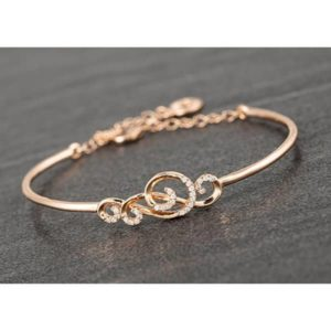 Sparkle Curls Rose Gold Plated Bangle
