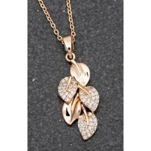 Falling Leaves Rose Gold Plated Necklace