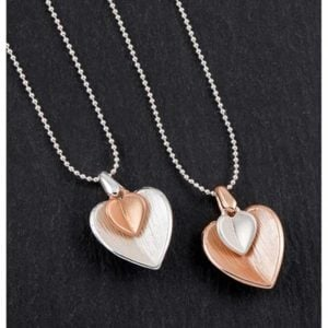 Equilibrium Matt SP RGP Heart Necklace