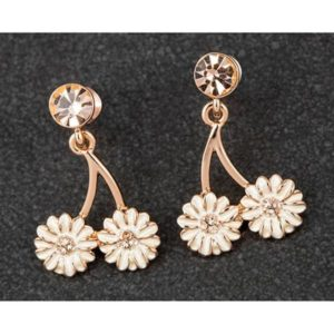 Equilibrium Dainty Daisy Dangly Earrings