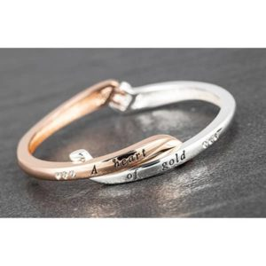 Crossover Silver Plated Gold Plated Bangle Gold