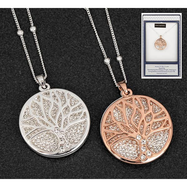 Equilibrium Filigree Disk Tree Long Necklace