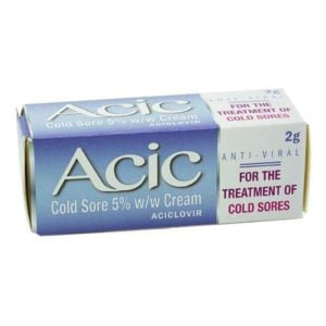 Acic (Aciclovir 5%) Cold Sore  Treatment