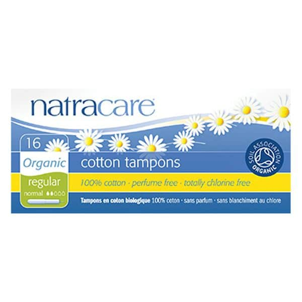 Natracare Organic Cotton Tampons with Applicator – Regular