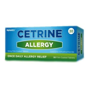 Cetrine Allergy 10mg Film Coated Tablets (30)