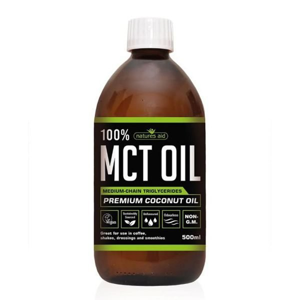 Natures Aid MCT Coconut Oil 100% 500ml Liquid