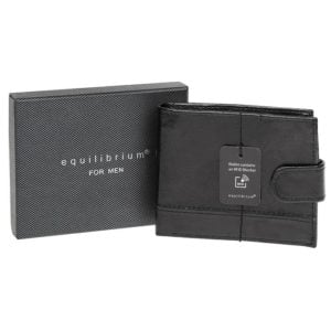 Mens RFID Wallet Black