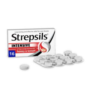 Strepsils Intensive Honey & Lemon Lozenges (16Pk)