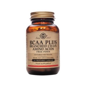 Solgar BCAA (Branched Chain Amino Acids) Plus Capsules (50)