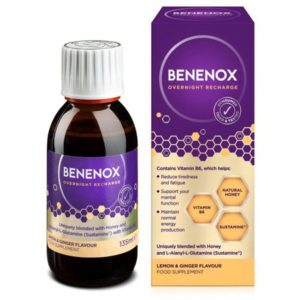 Natures Aid Benenox Overnight Recharge Blackcurrant Liquid (135ml)