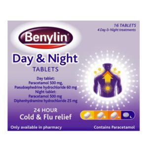 Benylin Day & Night Tablets (16)