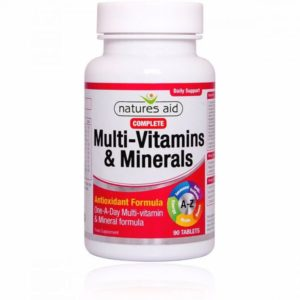 Natures Aid Multivitamins & Minerals without Iron Tablets (60)