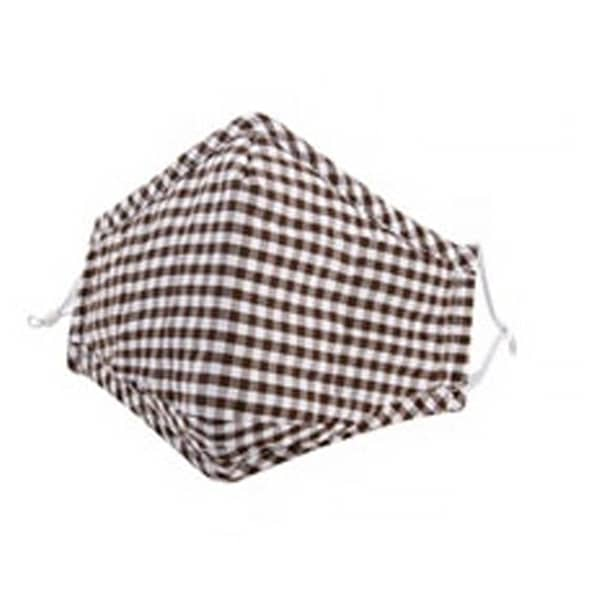 Purple Chequered Cotton Face Mask PM 2.5 KN 95  (includes 2 filters)