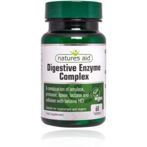 Natures Aid Digestive Enzyme  Complex – (60) Tablets