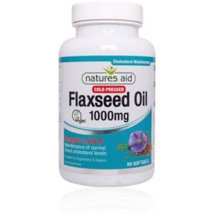 Natures Aid Flaxseed Oil 1000mg Softgels (90)