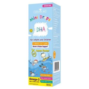 DHA Mini Drops for Children by Natures Aid (50ml)