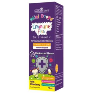 Immune Support Plus for Kids Natures Aid Mini-Drops (50ml)