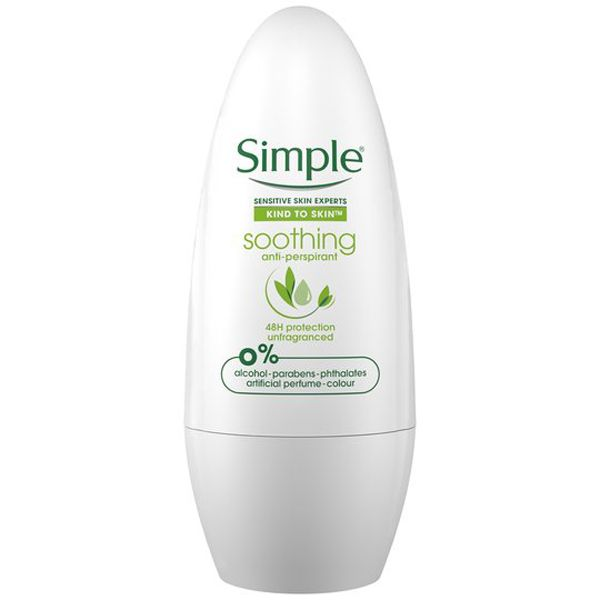 Simple Soothing Anti-perspirant Deodorant Roll-on 50ml