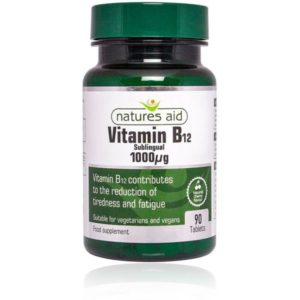 Natures Aid Vitamin B12 Sublingual Tablets (90)
