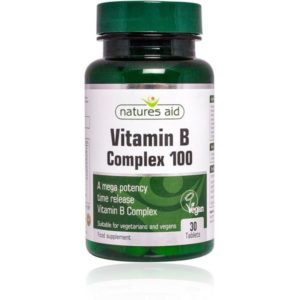 Natures Aid Vitamin B Complex 100 Time Release Tablets (60)