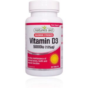 Natures Aid D3 5000IU (125µg) – (90) Tablets